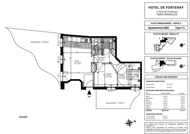 Vente appartement Versailles 813360€ - Photo 2