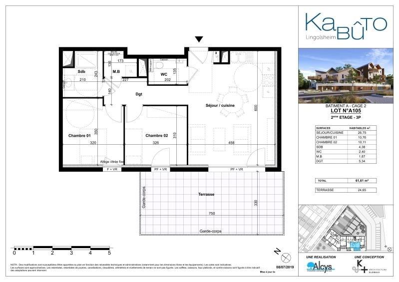 Sale apartment Lingolsheim 228000€ - Picture 3