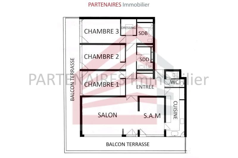 Sale apartment Le chesnay 643 750€ - Picture 9