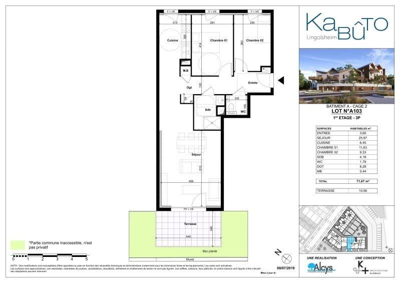 Sale apartment Lingolsheim 254000€ - Picture 3