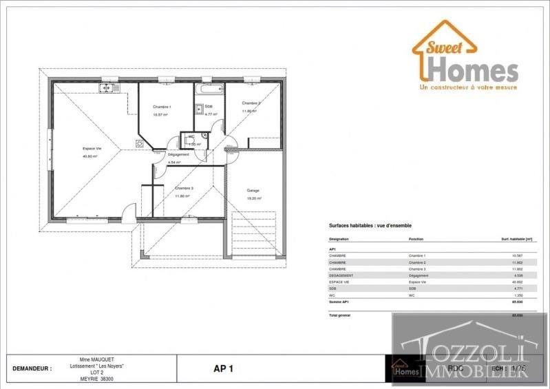Vente maison / villa La verpilliere 253472€ - Photo 2