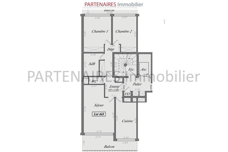 Vente appartement Le chesnay 417 000€ - Photo 8