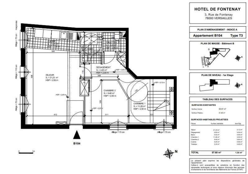 Sale apartment Versailles 725930€ - Picture 2