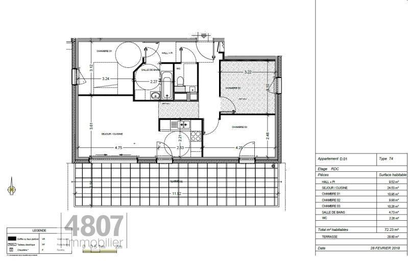 Vente appartement Annemasse 334000€ - Photo 1