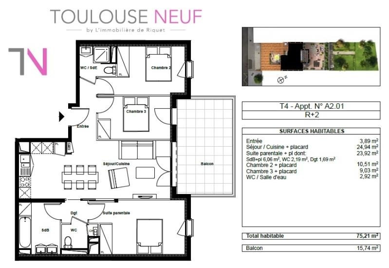 Vente appartement Toulouse 375000€ - Photo 7