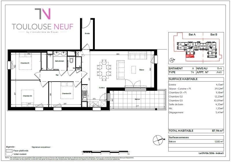 Vente appartement Toulouse 286900€ - Photo 10