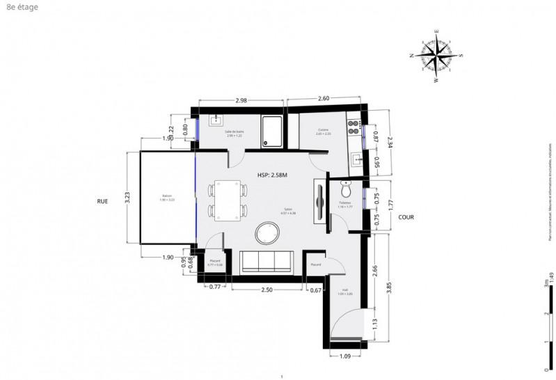 Vente appartement Paris 18ème 445000€ - Photo 7