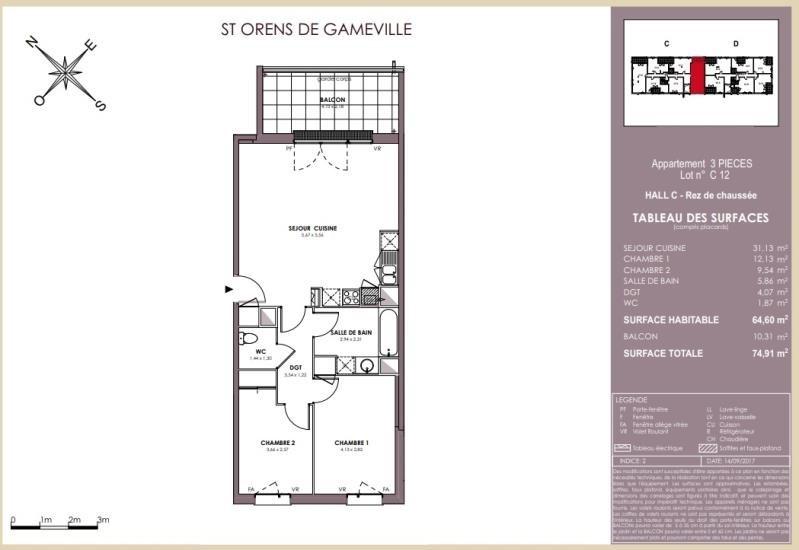 Vente appartement Saint orens 229000€ - Photo 9