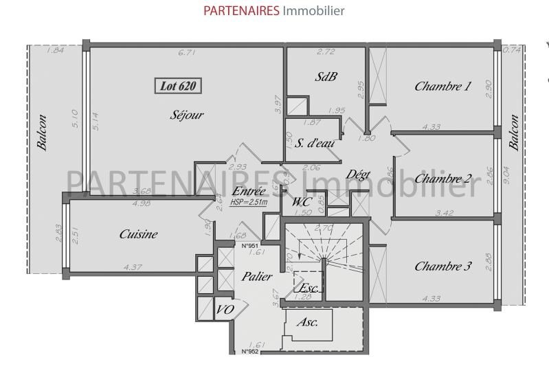 Sale apartment Le chesnay 627000€ - Picture 6