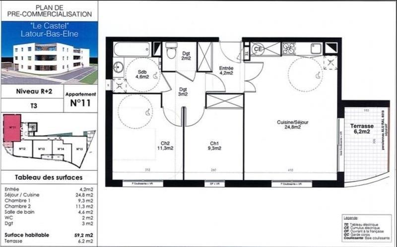 Vente appartement Latour bas elne 170000€ - Photo 3
