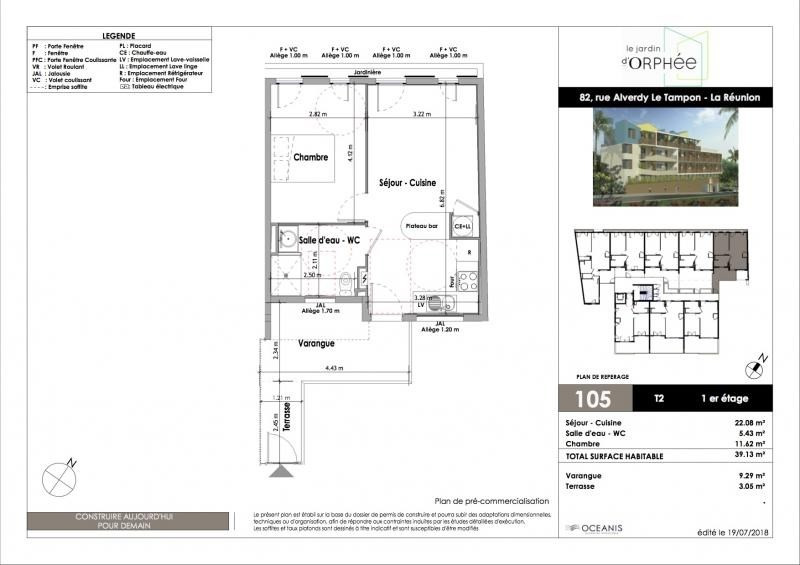 Sale apartment Le tampon 170000€ - Picture 2