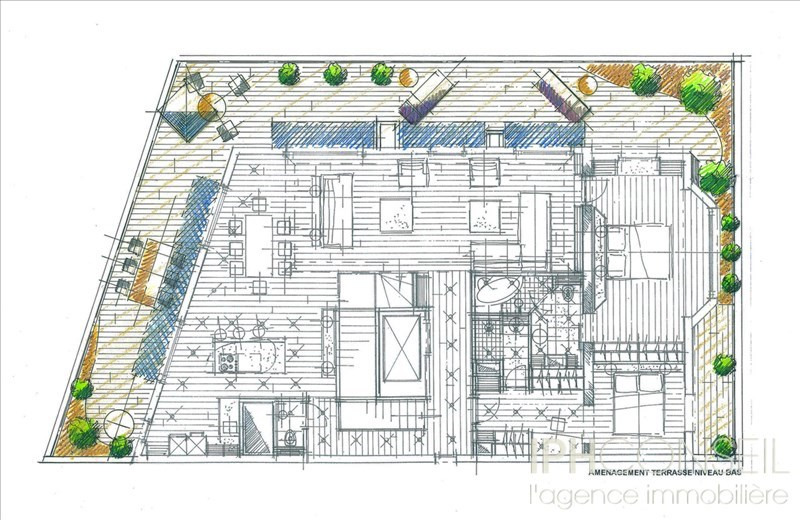 Appartement Terrasse NEUILLY SUR SEINE - 5 pièce(s) - 160.26 m2