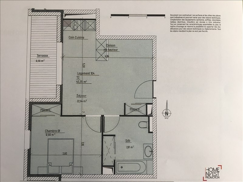 Immobile residenziali di prestigio appartamento Charbonnieres les bains 235500€ - Fotografia 4