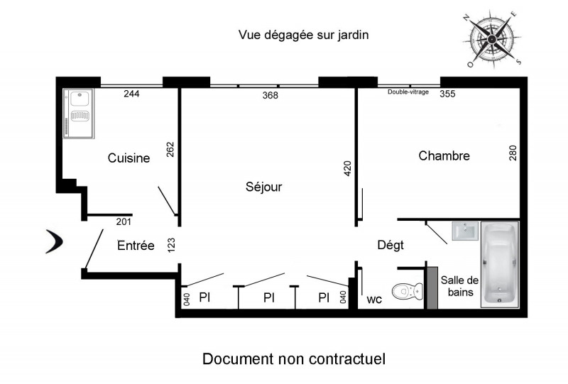 Rental apartment Paris 12ème 1 031€ CC - Picture 3
