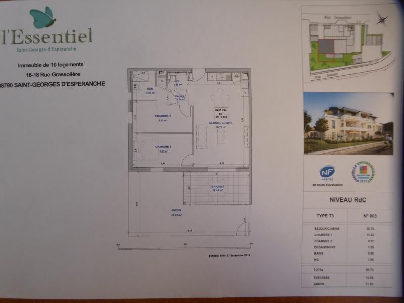 Vente appartement St georges d esperanche 210000€ - Photo 2