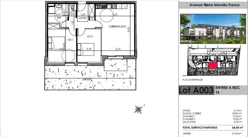 Vente appartement Chilly mazarin 250000€ - Photo 3