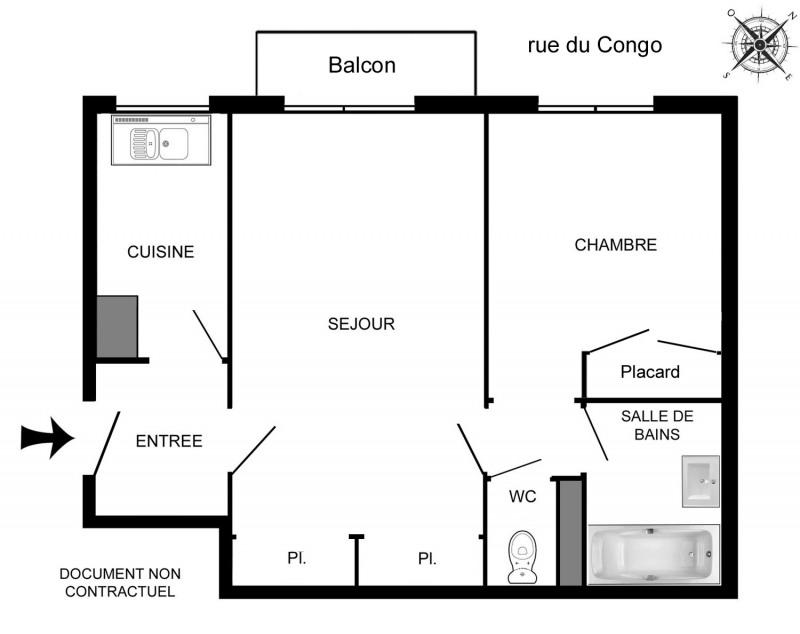 Rental apartment Paris 12ème 1318€ CC - Picture 2