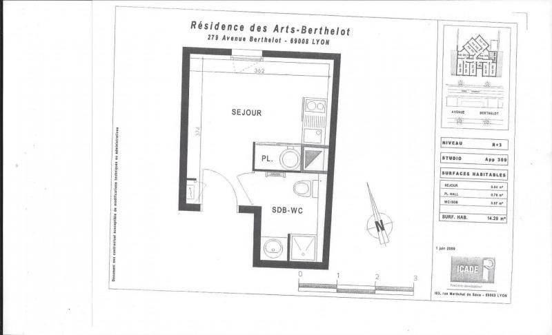 Vente appartement Lyon 8ème 85000€ - Photo 1