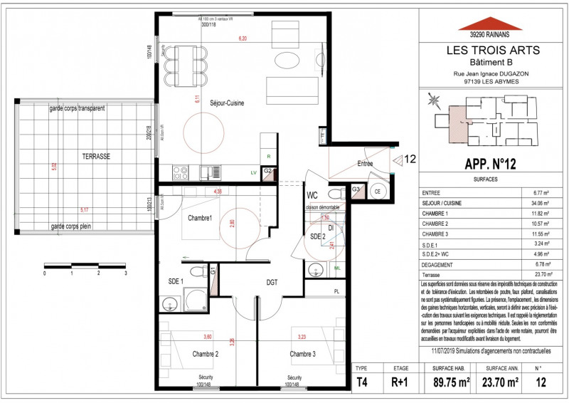 Produit d'investissement appartement Les abymes 244000€ - Photo 4