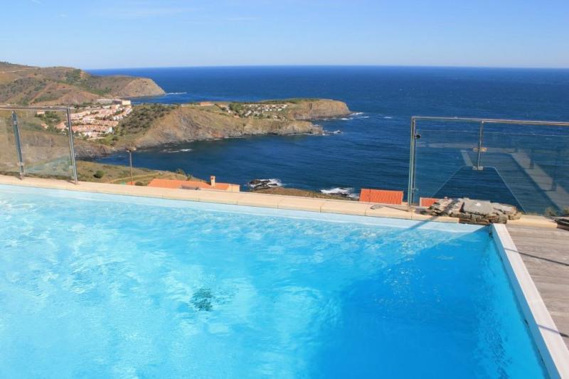 Villa piscine vue mer - cerbere
