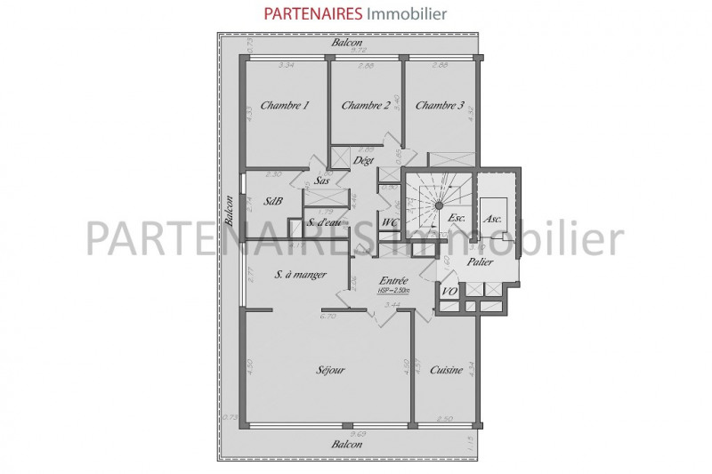 Sale apartment Le chesnay 635 000€ - Picture 11