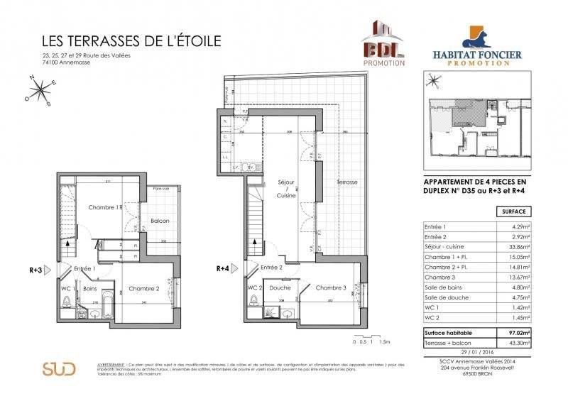 Sale apartment Annemasse 510000€ - Picture 2