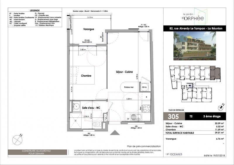 Sale apartment Le tampon 168000€ - Picture 2