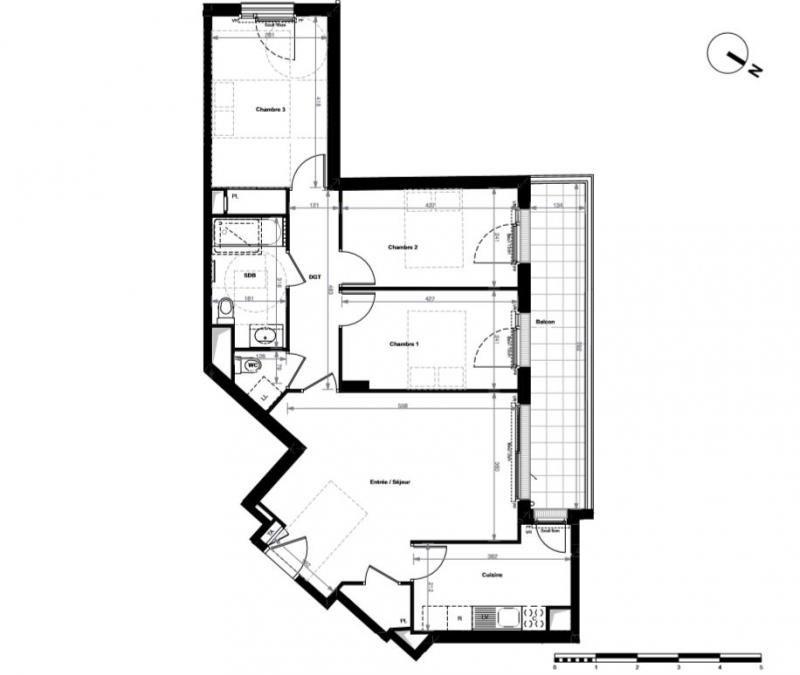 Vente de prestige appartement Antony 495900€ - Photo 1