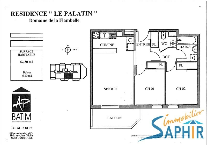 Sale apartment Toulouse 143 500€ - Picture 3
