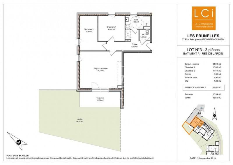 Venta  apartamento Bernolsheim 188900€ - Fotografía 2