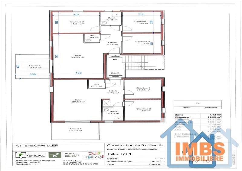 Venta  apartamento Attenschwiller 298970€ - Fotografía 8