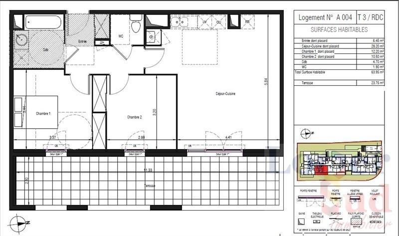 Deluxe sale apartment Lattes 301500€ - Picture 3