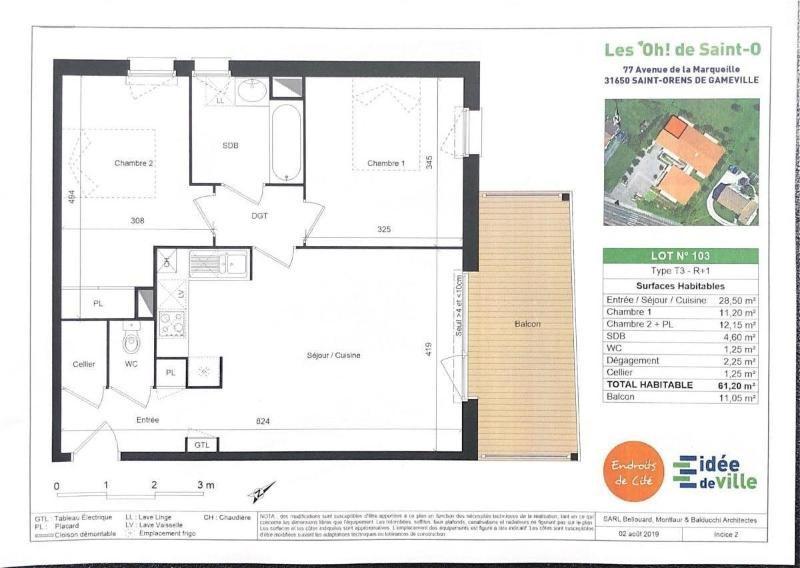 Rental apartment Saint orens de gameville 724€ CC - Picture 5