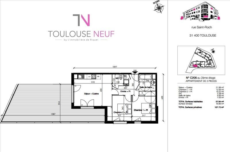 Vente appartement Toulouse 280 000€ - Photo 6