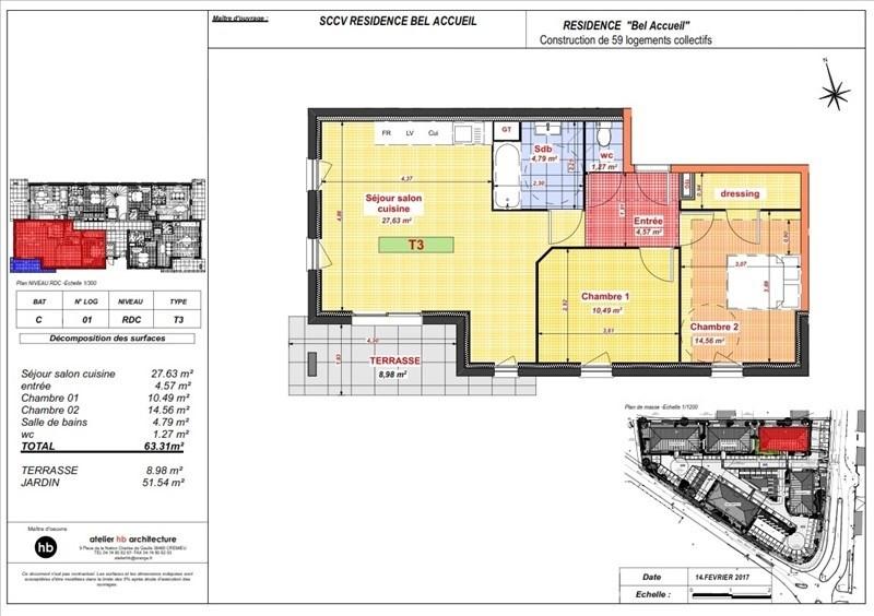 Sale apartment Bourgoin jallieu 167800€ - Picture 3