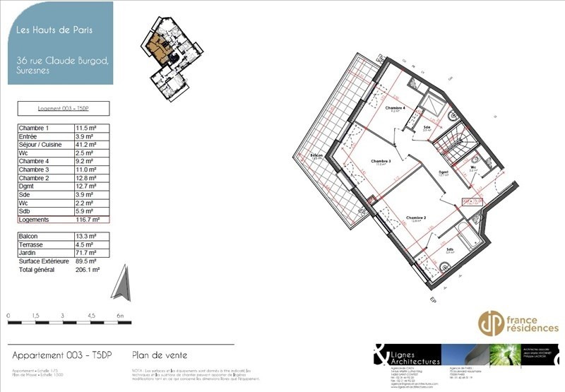 Sale apartment Suresnes 972700€ - Picture 5