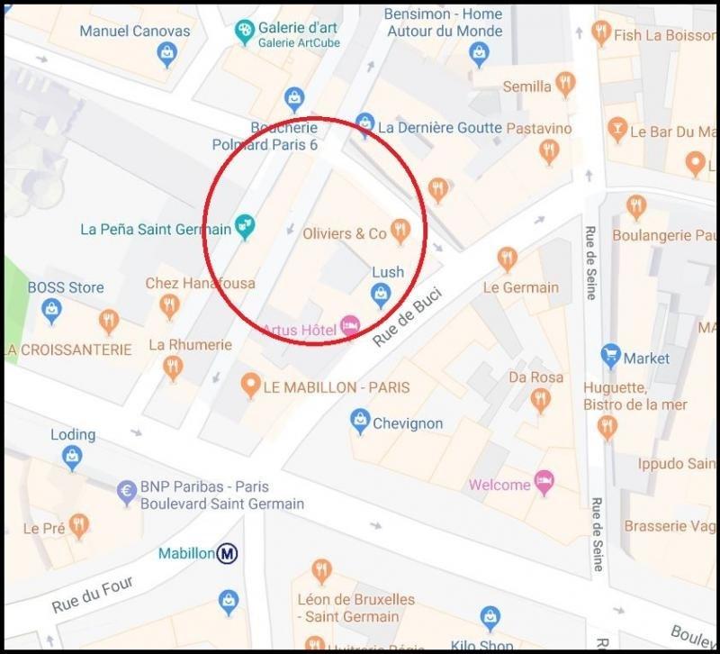 Vente local commercial Paris 6ème 1499000€ - Photo 1