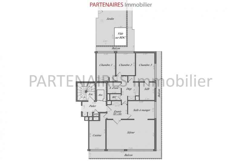 Sale apartment Le chesnay 630 000€ - Picture 5