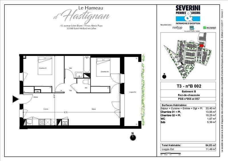 Vente appartement St medard en jalles 260000€ - Photo 3