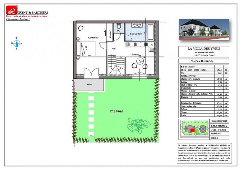 Vente maison / villa Noisy le grand 350000€ - Photo 13