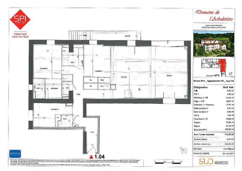Deluxe sale apartment Lyon 9ème 730000€ - Picture 2