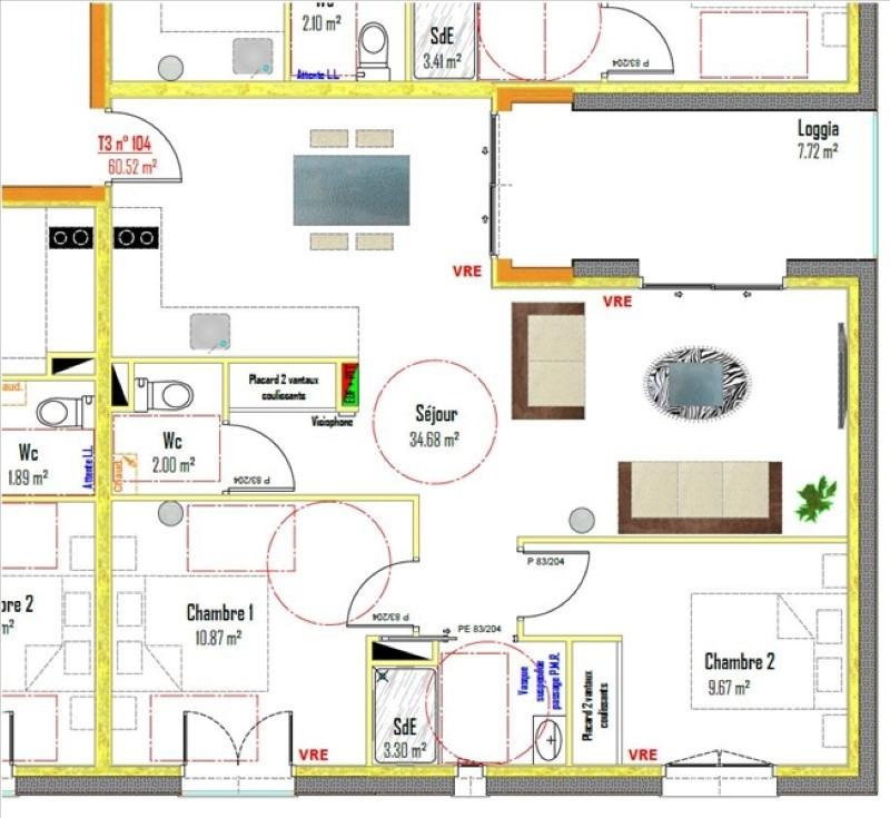 vente appartement 3 pi ce s rodez 60 52 m avec 2 chambres 145 362 euros. Black Bedroom Furniture Sets. Home Design Ideas