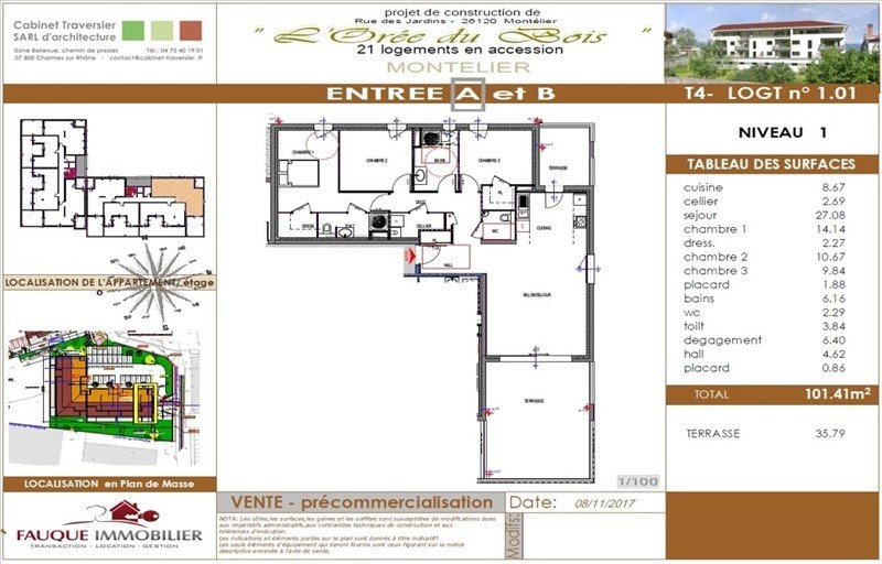 Vente appartement Montelier 302000€ - Photo 8