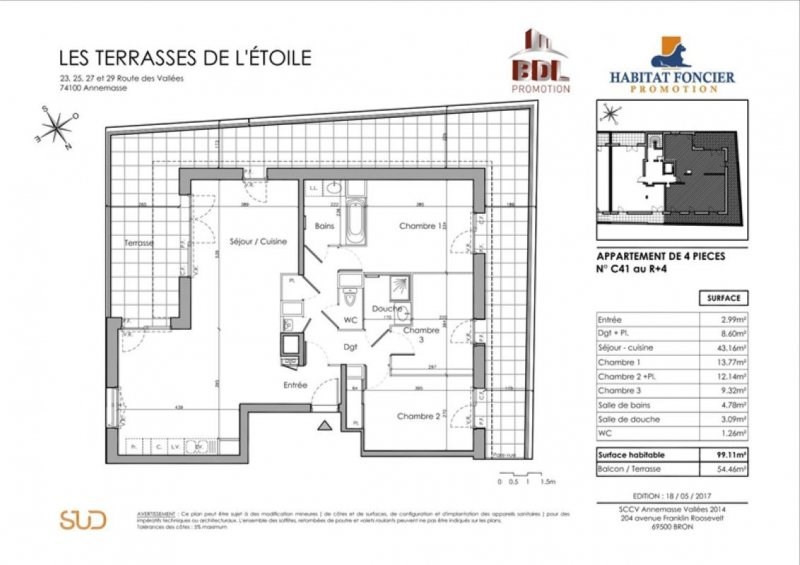 Sale apartment Annemasse 506300€ - Picture 2