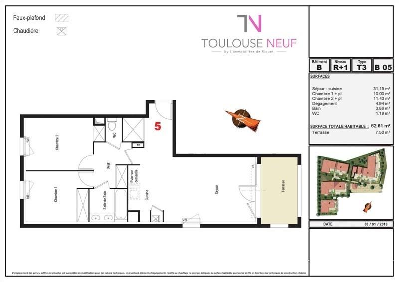 Vente appartement Tournefeuille 199080€ - Photo 2