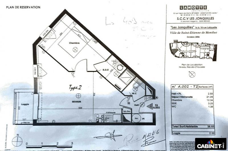 Sale apartment St etienne de montluc 121900€ - Picture 9