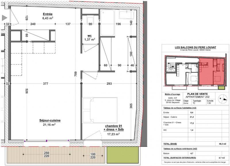 Vente appartement Voiron 149800€ - Photo 1