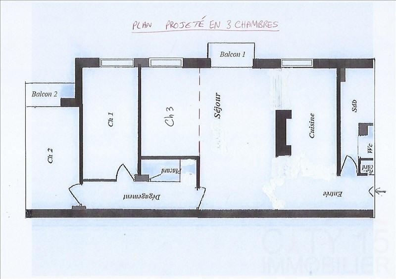 Venta  apartamento Paris 15ème 665000€ - Fotografía 8