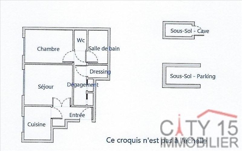Revenda apartamento Paris 15ème 455000€ - Fotografia 3