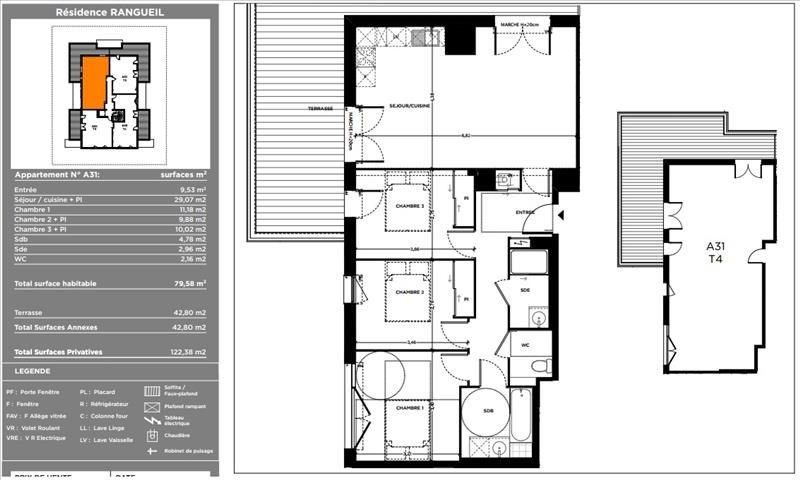 Vente appartement Toulouse 293500€ - Photo 5